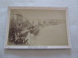PHOTO ALBUMINE - ARROMANCHES - La Digue à Pleine Mer [Env 165X110 Circa 1870] - Old (before 1900)