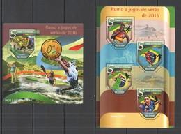ST1482 2015 S. TOME E PRINCIPE SPORT OLYMPIC GAMES BRAZIL 2016 KB+BL MNH - Estate 2016: Rio De Janeiro