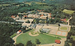 SOUTH FALLSBURG, New York ; HOTEL BRICKMAN, Air View Of Athletic Fields & Swimming Pool, 50-60s - Other