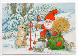 Postal Stationery RED CROSS  FINLAND - Artist: Marjaliisa Pitkäranta - GNOME - RABBIT - SQUIRRELS - Postage Paid - Postwaardestukken