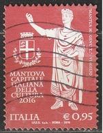 Italia 2016 - 0,95 Cent. Mantova Capitale Italiana Della Cultura 2016 - 6. 1946-.. Repubblica