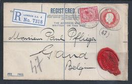 Registered Stationery Letter From Ralli Brothers London With Additional Perfin R.B. Cotton, Silk Opium Business. Textile - Textiel