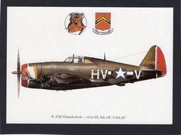 P-47D Thunderbolt  -  61st FS, 8th AF, USAAF   -  CPM - 1939-1945: 2ème Guerre