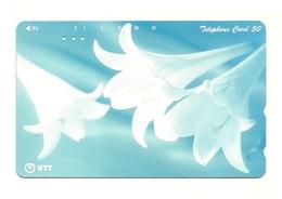 Giappone - Tessera Telefonica Da 50 Units T604 NTT - Fleurs