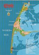 Nordseeinsel Sylt, Landkarte Gl1975 #F6489 - Ohne Zuordnung