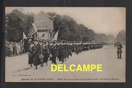 DD / GUERRE 1914 - 18 / ALLIÉS AMÉRICAINS / PARIS 4 JUILLET 1918 / DÉFILÉ DES INFIRMIÈRES AMÉRICAINES AUX CHAMPS ELYSÉES - Guerre 1914-18