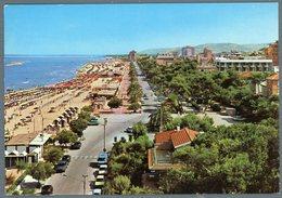 °°° Cartolina N. 68 Roseto Degli Abruzzi Lungomare E Spiaggia Viaggiata °°° - Teramo