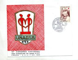 Lettre Cachet Limoges Congres Donneur Sang - Marcofilie (Brieven)