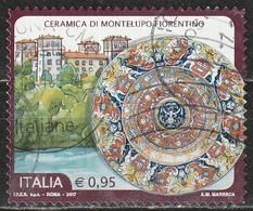 Italia 2017 - 0,95 Cent. Ceramica Di Montelupo Fiorentino - 6. 1946-.. Repubblica