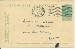 5c-Pellens-kaart Met Overfrankering Van OCB 137 - Afstempeling BRUXELLES DEPART 17.III.1919 - Cartes Postales [1909-34]