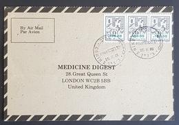 1985, ISRAEL, WEST BANK, Medicine Digest, Carte Response, Jenin, Palestine - London - Israel