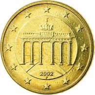 République Fédérale Allemande, 50 Euro Cent, 2002, TTB, Laiton, KM:212 - Allemagne