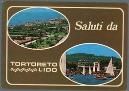 °°° Cartolina N. 71 Saluti Da Tortoreto Lido Vedute Viaggiata °°° - Teramo