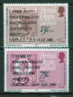 British Virgin Islands 1980 Queen Elizabeth Set Of Stamps Celebrating Parliament Meeting. - British Virgin Islands