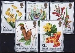 British Virgin Islands 1981 Queen Elizabeth Set Of Stamps Celebrating Flowers. - British Virgin Islands