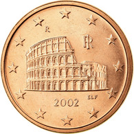 Italie, 5 Euro Cent, 2002, SUP, Copper Plated Steel, KM:212 - Italie