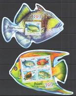 ST1547 2015 S. TOME E PRINCIPE FAUNA FISH & MARINE LIFE PEIXES DE SINGAPURA KB+BL MNH - Mundo Aquatico