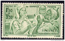 Inini PA N° 1  XX Protection De L'Enfance : 1 F. 50 + 3 F. 50 Vert,   Sans Charnière TB - Inini (1932-1947)