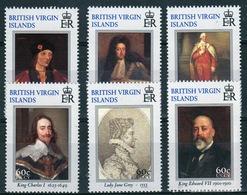 British Virgin Islands 2000 Queen Elizabeth Set Of Stamps Celebrating Stamp Show Kings And Queens Of England. - British Virgin Islands