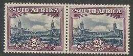 South Africa - 1950 Government Buildings Bilingual Pair 2d MNH **     SG 116   Sc 55 - Unused Stamps