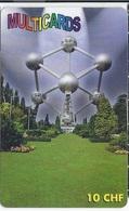 SWITZERLAND - MULTICARD - BRUSSELS - ATOMIUM - Suiza