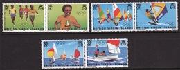 British Virgin Islands 1984 Queen Elizabeth Set Of Stamps Celebrating Olympic Games. - British Virgin Islands