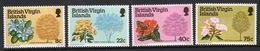 British Virgin Islands 1978 Queen Elizabeth Set Of Stamps Celebrating Flowering Trees. - British Virgin Islands