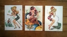 Lot De 3 Cartes Postales / Thème MUSIQUE / Illustration Emilio FREIXAS - Künstlerkarten