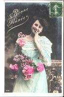 659. Bonne Année. De Germaine à Raymond Courdier Gare De Montbizot.1903. - Women