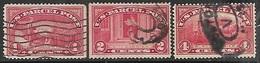 US    1933     Sc#Q1-2, Q4    1c, 2c, 4c Parcel Posts Used  2016 Scott Value $6.65 - Paquetes & Encomiendas