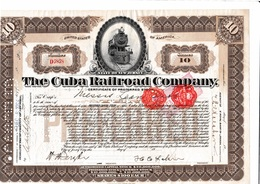 THE CUBA RAILROAD COMPANY 1924 - Chemin De Fer & Tramway