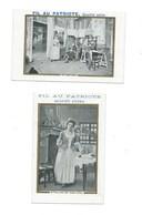 2 X Madame Sans-Gène Théâtre Sardou Et Moreau Napoléon Chromo Bien 120 X 80 Mm Pub: Fil Au Patriote 2 Scans - Cromos