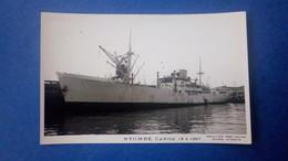 Carte Photo Du Bateau NYOMBE, Marine Marchande, Cargo, Datée De 1967 - Commerce
