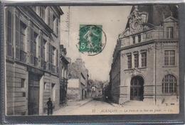 Carte Postale 61. Alençon Cabinet De Dentiste  Et La Poste Rue Du Jeudi  Très Beau Plan - Alencon