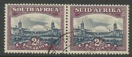 South Africa - 1950 Government Buildings Bilingual Pair 2d Used     SG 116   Sc 55 - South Africa (...-1961)