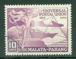 Malaya - Pahang: 1949   U.P.U.  SG49   10c   Used - Pahang