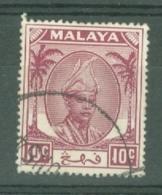 Malaya - Pahang: 1950/56   Sultan Abu Bakar    SG61     10c       Used - Pahang