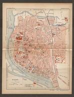CARTE PLAN 1934 N° 756 - VICHY CONCOURS HIPPIQUE ET VELODROME CASINO HOPITAL MILITAIRE LES THERMES - Topographische Kaarten