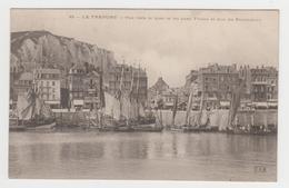 BO439 - LE TREPORT - Vue Vers Le Quai Et Les Rues Thiers Et Duc De Penthièvre - Nombreux Bâteaux - Voiliers - Péniche - Le Treport