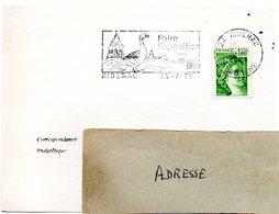 DORDOGNE - Dépt N° 24 = RIBERAC 1979 = FLAMME Type II = SECAP Illustrée OISEAU / OIE = FOIRE EXPOSITION - Oies