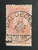 COB N ° 57 Oblitération Maldegem 1898 - 1893-1900 Fine Barbe