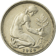Monnaie, République Fédérale Allemande, 50 Pfennig, 1950, Stuttgart, TTB - [ 6] 1949-1990 : GDR - German Dem. Rep.