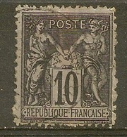 Yvert - N° 89e - Cote 5 € - 1876-1898 Sage (Type II)