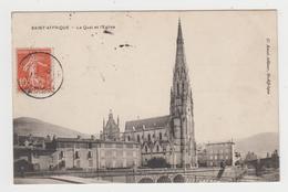 BO449 - SAINT AFFRIQUE - Le Quai Et L'Eglise - Saint Affrique