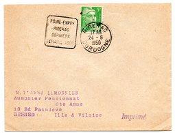 DORDOGNE - Dépt N° 24 = RIBERAC 1950 = FLAMME DAGUIN  = ' Foire Expo Dernière Semaine D'aout ' - Oblitérations Mécaniques (Autres)