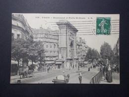 Carte Postale - PARIS 10ème (75) - Boulevard Et Porte St Denis - (2857) - Arrondissement: 10