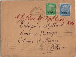 FRANCE ALSACE OCUPEE YT N°3 ET 9 OBLITERES SUR LETTRE CACHET HAGENTHAL LE HAUT CENSURE - Alsace-Lorraine