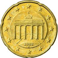 République Fédérale Allemande, 20 Euro Cent, 2002, SUP, Laiton, KM:211 - Allemagne