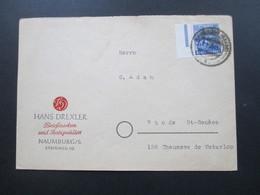 SBZ 1948 Nr. 194 EF Seitenrand!! Auslandsbrief Naumburg Saare) - Rhode St-Genese Hans Drexler Briefmarken U. Atiquitäten - Zona Soviética