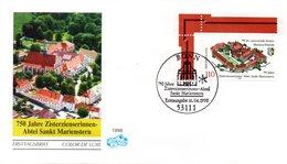 """BRD Schmuck-FDC """"750 Jahre Zisterzienserinnenabtei Sankt Marienstern"""", Mi. 1982 ESSt  16.4.1998 BONN - FDC: Buste"""